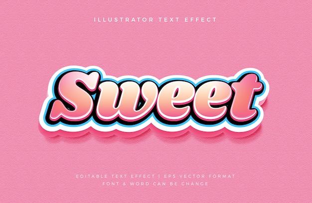 Efekt czcionki słodkie kolorowe cukierki styl
