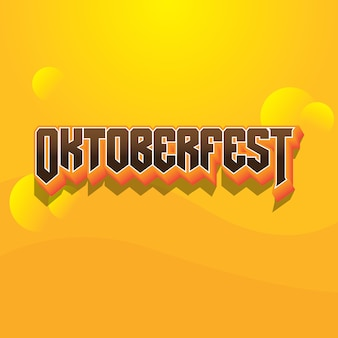 Efekt czcionki tekstowej logo oktoberfest