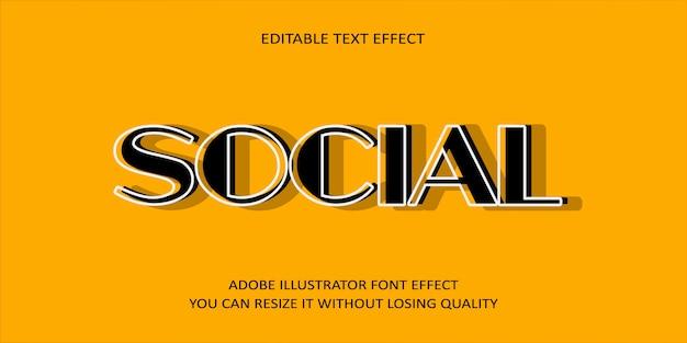 Efekt czcionki tekstu społecznościowego