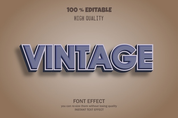 Efekt czcionki tekstu w stylu vintage