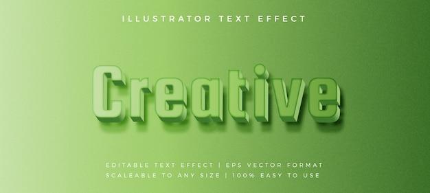Efekt czcionki w stylu nowoczesnego tekstu zielony