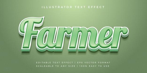 Efekt czcionki w stylu tekstu zielonego rolnika