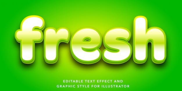 Efekt edycji tekstu w stylu świeżych liter