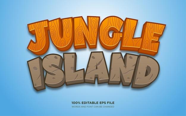 Efekt edytowalnego stylu tekstu jungle island