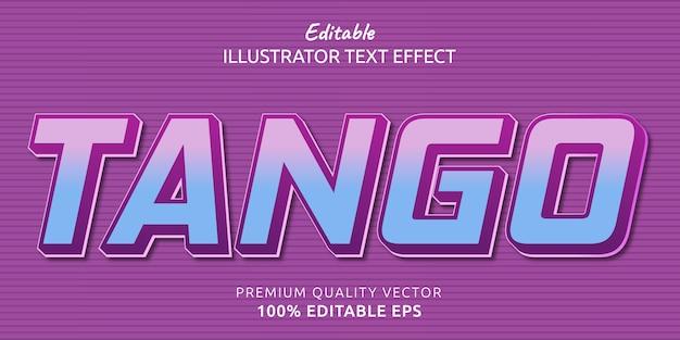 Efekt edytowalnego stylu tekstu tango