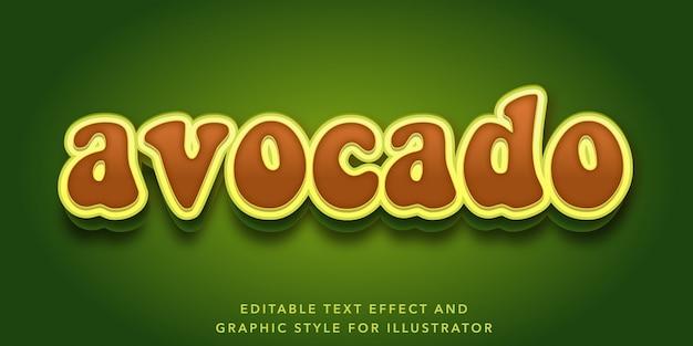 Efekt edytowalnego tekstu w stylu listu awokado