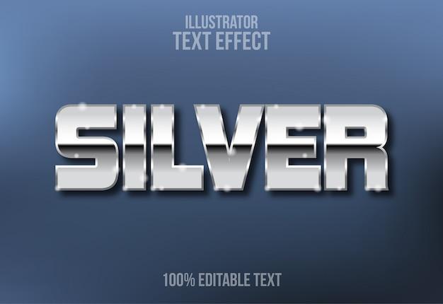 Efekt edytowalnego tekstu w stylu srebrnych liter