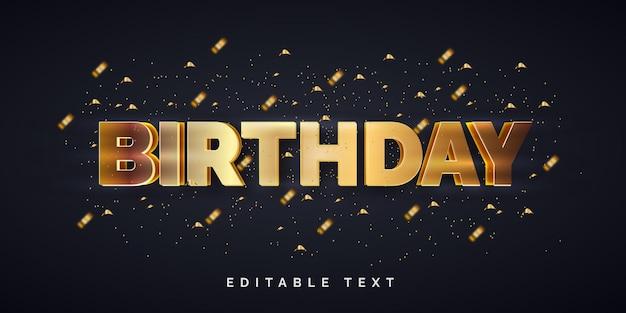 Efekt edytowalnego tekstu z okazji urodzin