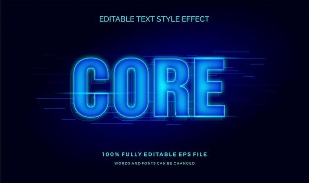 Efekt edytowalny stylu tekstu niebieski ruch tech.