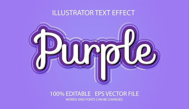 Efekt edytowalny tekst fioletowy skrypt
