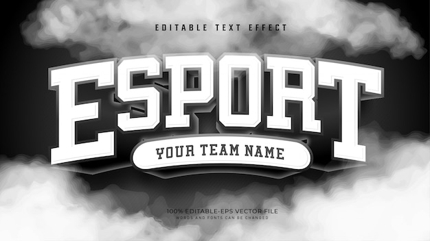 Efekt esport text
