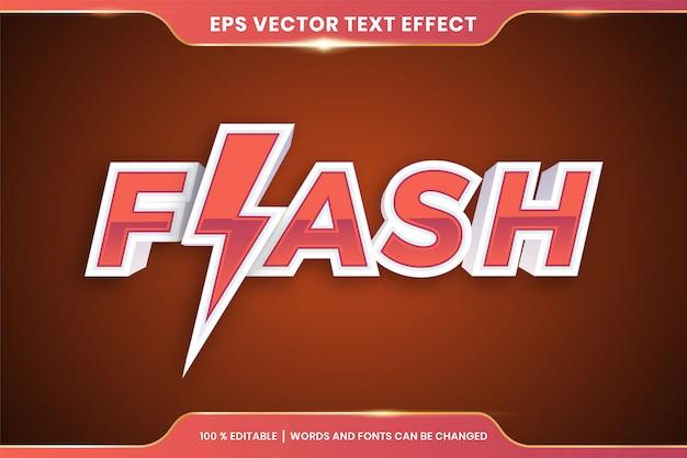 Efekt flash text edytowalna koncepcja