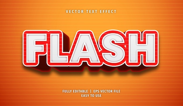 Efekt flash text, edytowalny styl tekstu