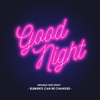 Efekt fontów światła neonowego