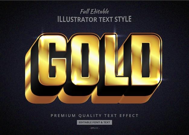 Efekt graficznego stylu tekstu z długim złotym cieniem