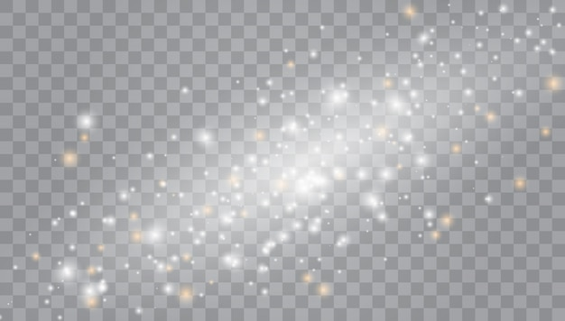 Efekt gwiezdnego pyłu. ilustracja blask światła.