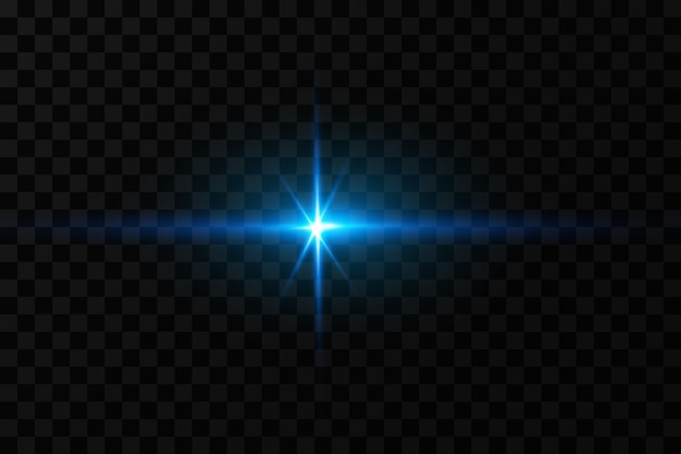 Efekt jasnego blasku niebieskich gwiazd cząsteczki świetlne efekty świetlne