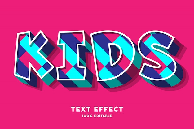 Efekt kolorowy tekst dla dzieci