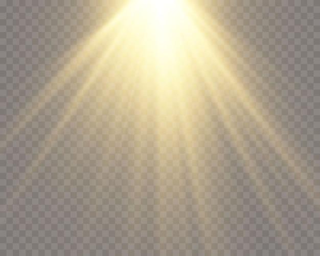 Efekt latarki przezroczystej soczewki słonecznej