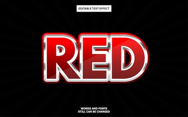 Efekt luksusowego stylu czerwonego tekstu