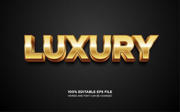 Efekt luksusowego stylu tekstu złota