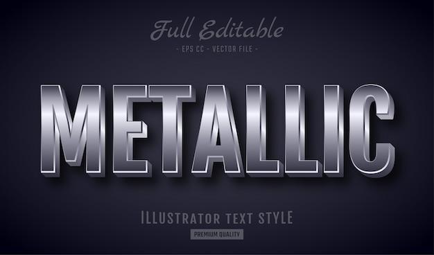 Efekt metalicznego stylu styl premium