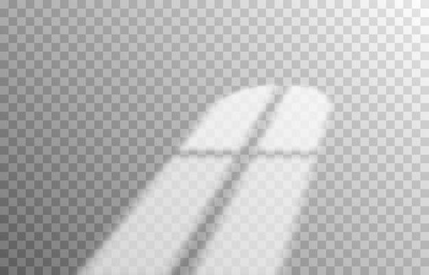 Efekt nakładania się cieni cień z różnych typów okien realistyczny cień światła z