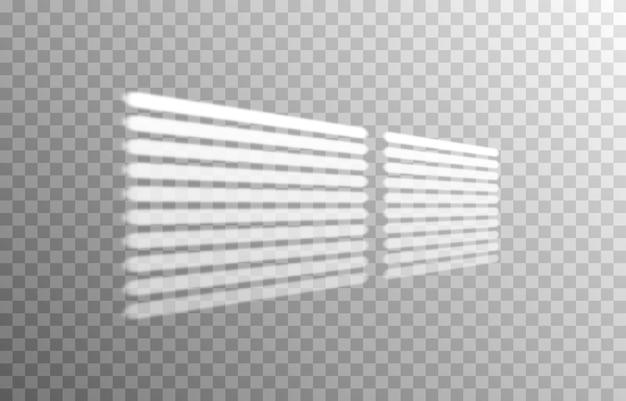 Efekt nakładania się cieni z różnych rolet realistyczny odcień światła z rolet