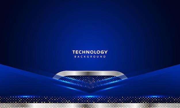 Efekt nakładania warstw 3d z dekoracją świetlną w kolorze niebieskim