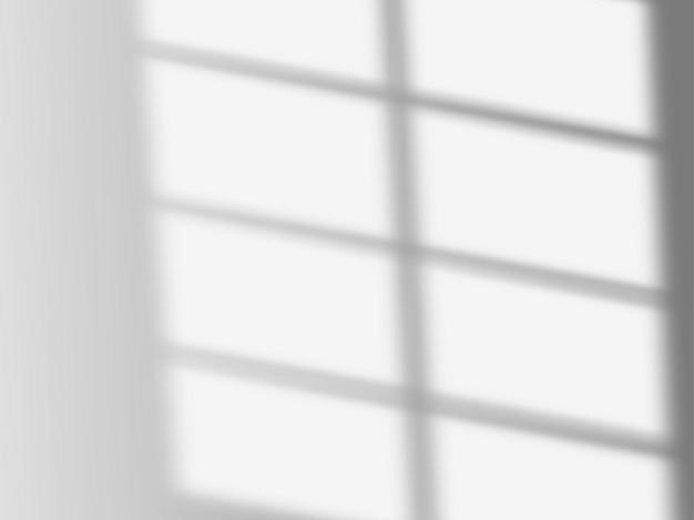 Efekt nakładki cienia. miękkie światło i cienie z okna. realistyczna makieta wektorowa przezroczystego efektu nakładki cienia i naturalnego oświetlenia we wnętrzu pokoju.