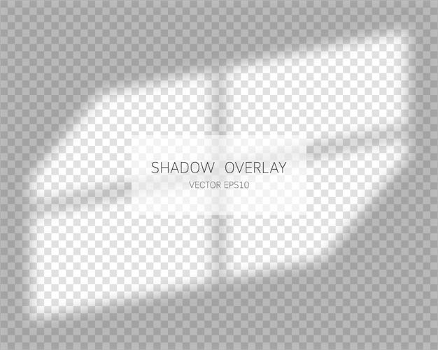 Efekt nakładki cienia. naturalne cienie na przezroczystym tle. ilustracja.