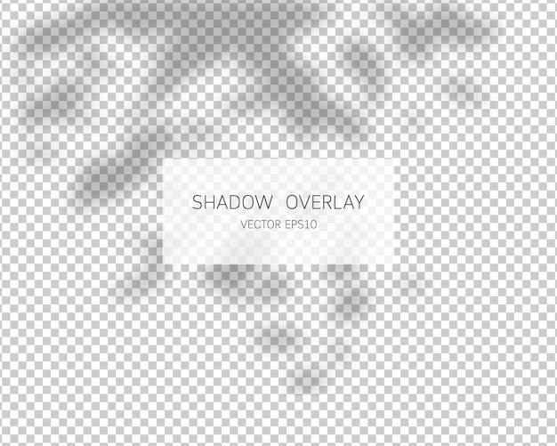 Efekt nakładki cienia. pozostawia cienie. ilustracja.