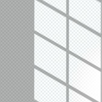 Efekt nakładki przezroczystych cieni okiennych