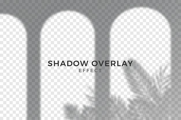 Efekt nakładki streszczenie przezroczyste cienie