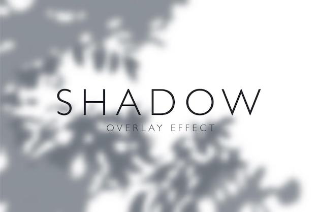 Efekt nakładki z ciemnymi cieniami z gałęzi drzew i liści w tle ilustracji