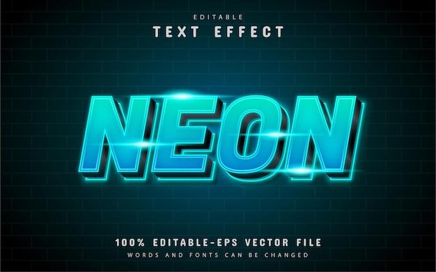 Efekt niebieskiego tekstu neonowego