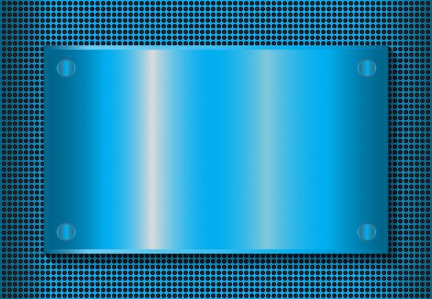 Efekt niebieskiego tła metalicznego