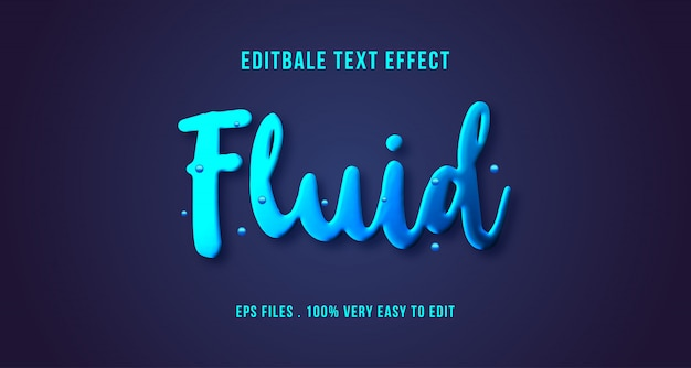Efekt płynnego tekstu 3d, tekst edytowalny