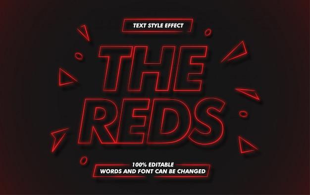 Efekt pogrubienia czerwonej linii tekstu