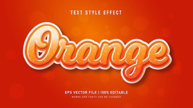 Efekt Pomarańczowego Stylu Tekstu Premium Wektorów