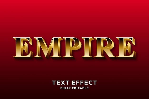 Efekt premium gold text