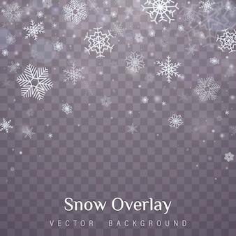 Efekt przezroczystej dekoracji płatka śniegu