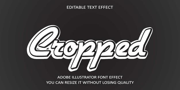 Efekt przycięcia tekstu