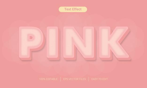 Efekt różowego tekstu o kobiecym kolorze