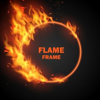 Efekt spalania czerwonych gorących iskier realistyczne płomienie ognia