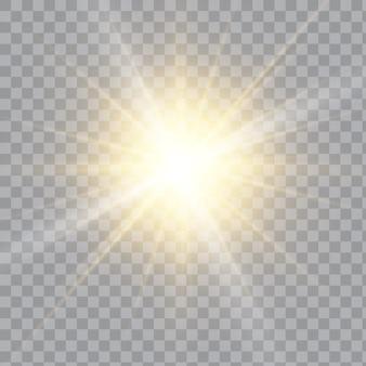 Efekt specjalny błysku światła.