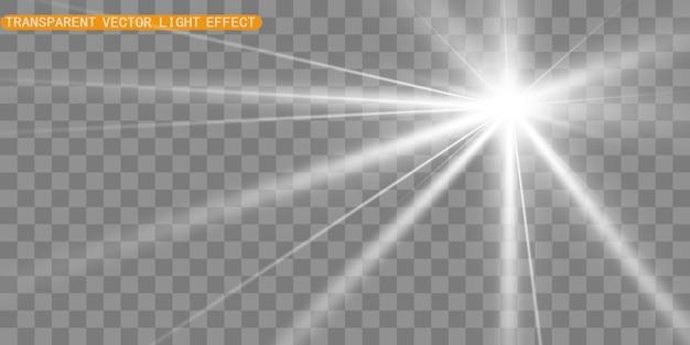 Efekt specjalny flary. ilustracja