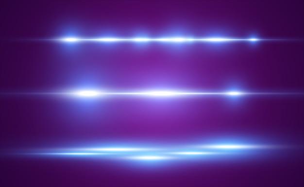 Efekt specjalny jasnoniebieskiej linii. świecący jasny pasek.