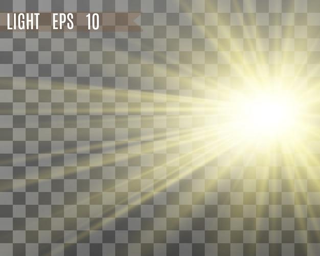 Efekt specjalny rozbłysku światła. ilustracja.