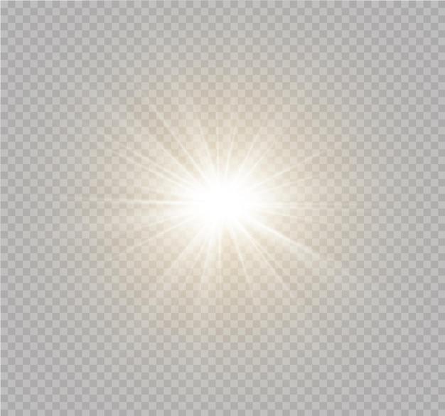 Efekt specjalny rozbłysku światła z promieniami światła